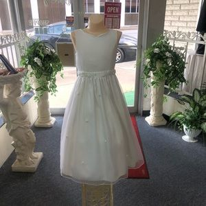 White Formal Flower Girl Dress